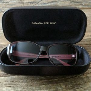 Banana Republic Pink Sunglasses with case